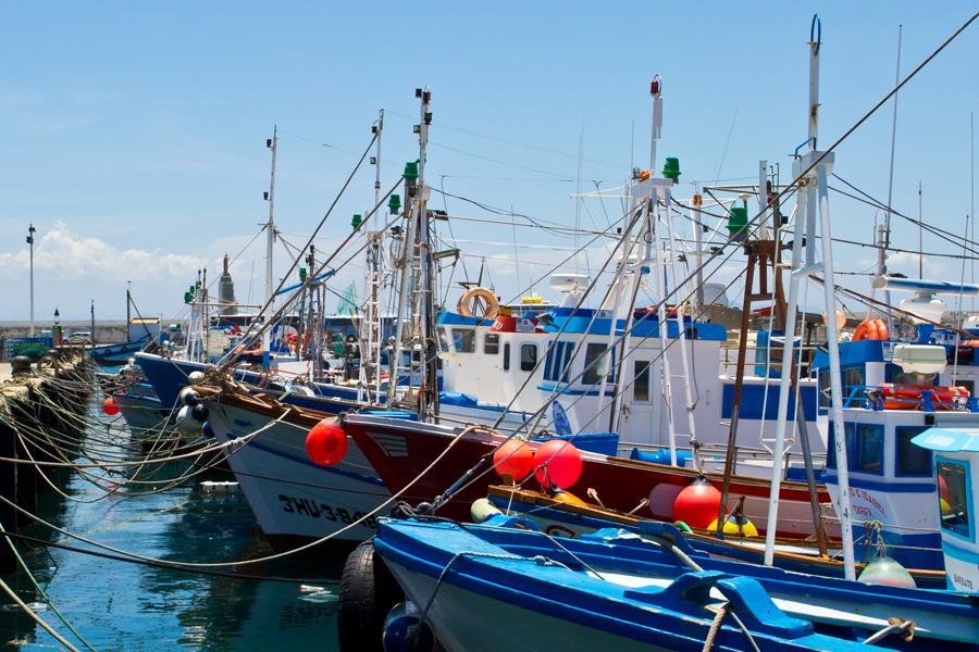 Im Hafen von Tarifa
