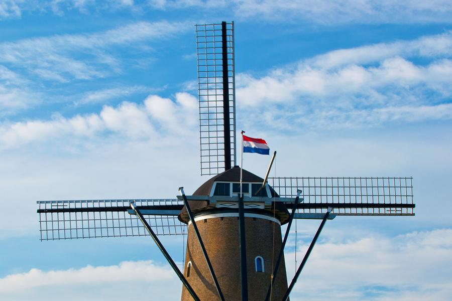 Die Windmühle von Brouwershaven