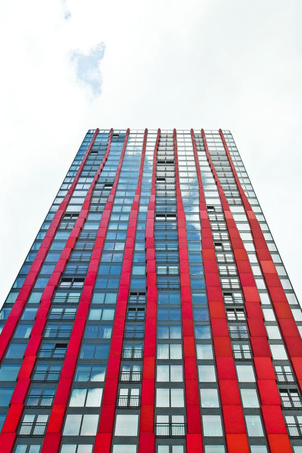 Gebäudefassade in Rotterdam